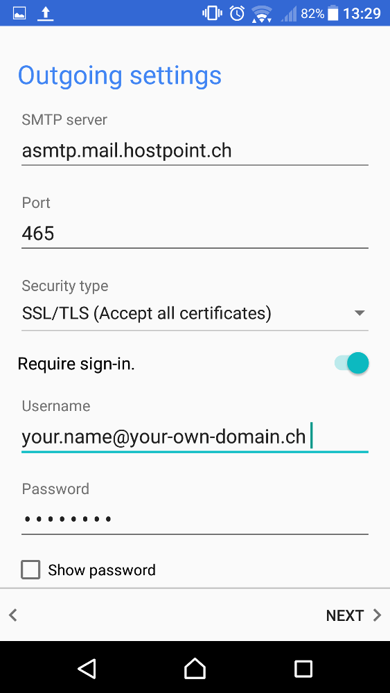 Step By Step E Mail Configuration For Android