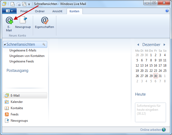 Step-by-step: E-Mail configuration for Windows Live Mail
