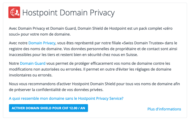 Hostpoint Domain Shield