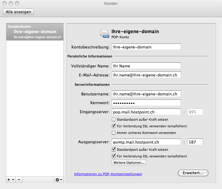 u00c9tape par  u00e9tape  configuration d u2019un compte de messagerie avec outlook pour mac os x